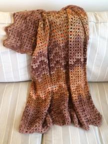 Granny Ripple Lap Blanket