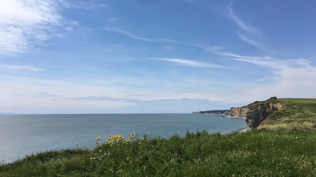 A view from the cliffs towards Nash Point